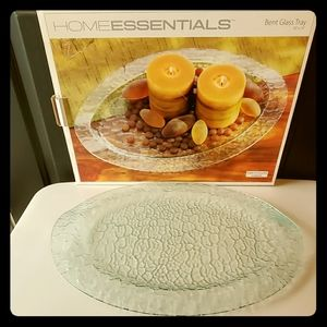 Textured Oval Glass Tray